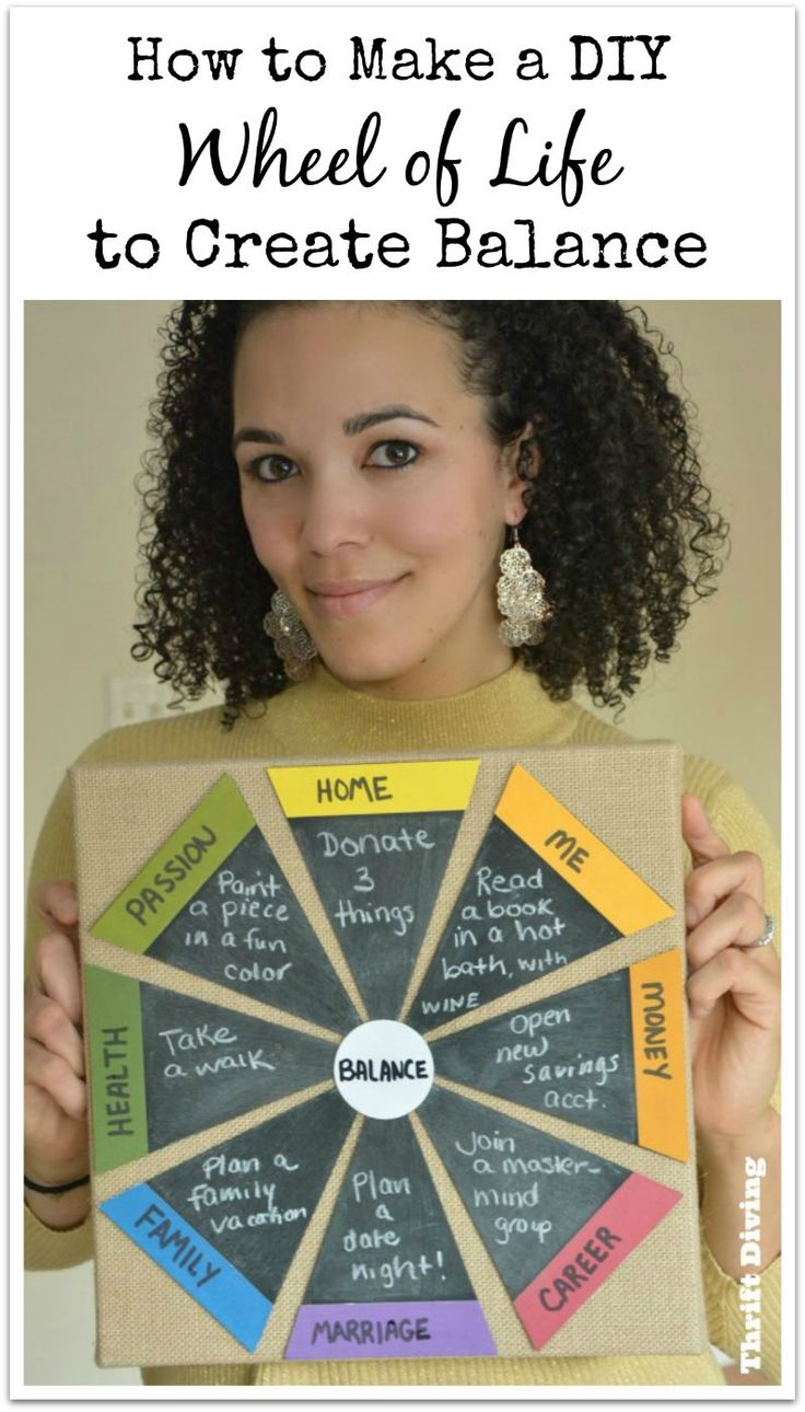 How to Make a DIY Wheel of Life to Create Balance - Thrift Diving Blog