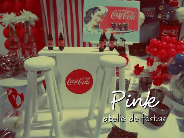 Vintage Coca Cola themed birthday party... Very retro, I love anything 1940  #retro#vintage#coca cola#birthday#party