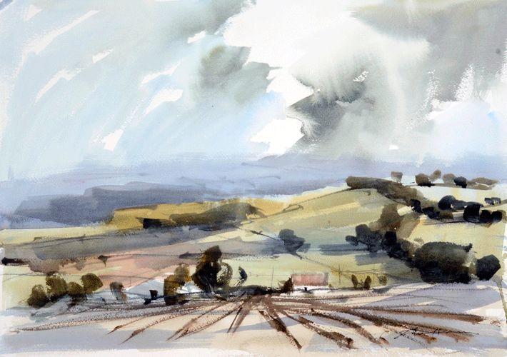 """john hoar watercolors   watercolour, 12""""x18"""", £750"""