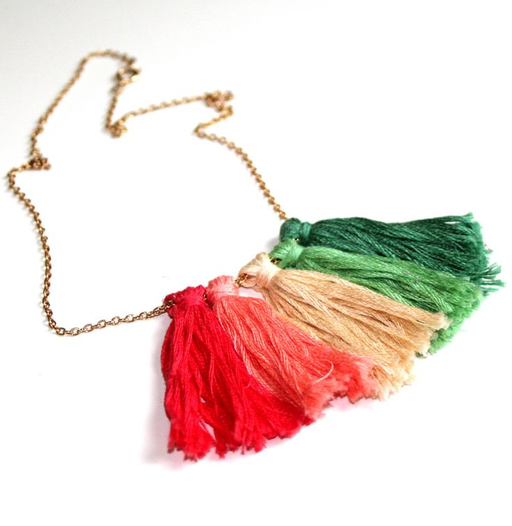 How to Make a Tassel Necklace #jewellerymaking #diy #tassel #jewellery