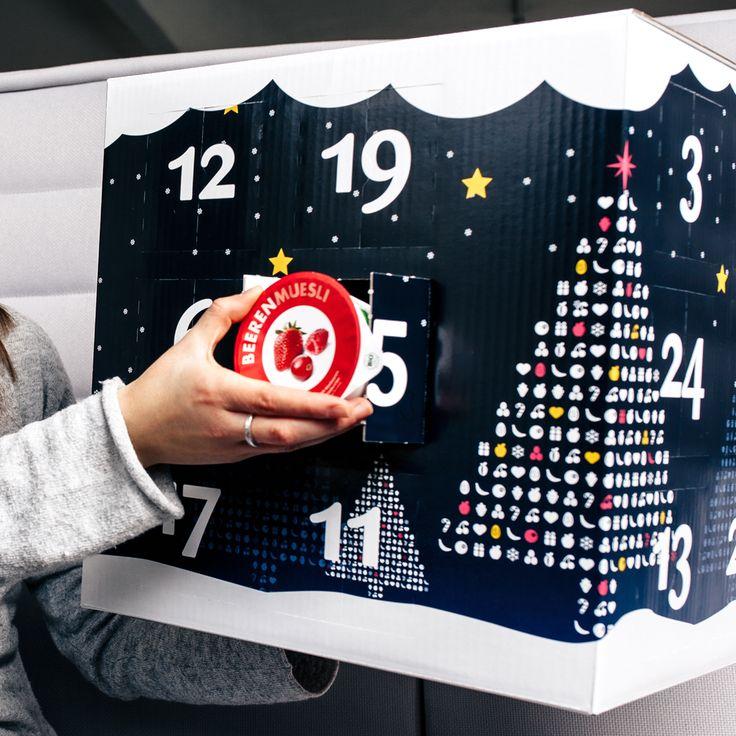 Der große mymuesli Adventskalender versüßt Dir die Wartezeit bis Weihnachten mit 24x Bio-Müsli in 9 leckeren Sorten. Und an Heiligabend wartet eine ganz besondere Überraschung auf Dich.  #Advent #Adventskalender #Geschenke #Geschenkidee #Weihnachten #holidays #season #gift #christmas #xmas