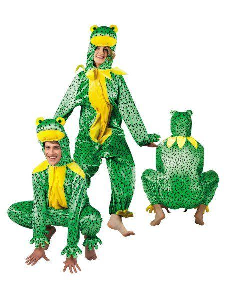 """https://11ter11ter.de/59020396.html Plüschkostüm """"Frosch""""  für Erwachsene #Karneval #Fasching #Mottoparty #11ter11ter #Outfit #Kostüm #Partnerkostüm #Twins #Plüsch #Frosch"""