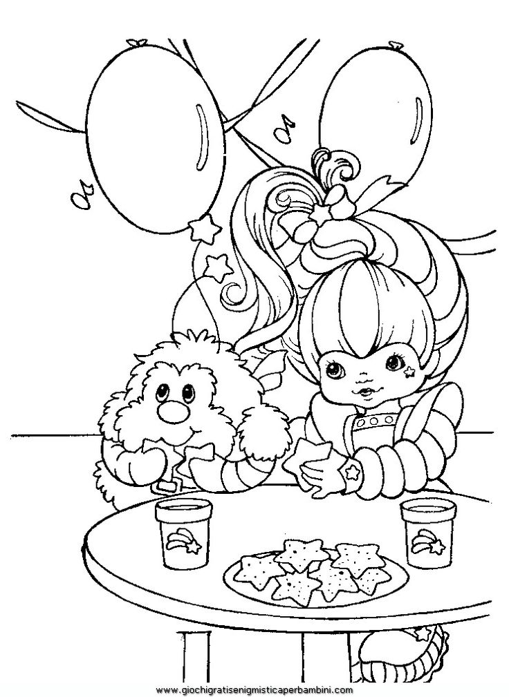 885 Best Coloring Pages Images On Pinterest Coloring Books - rainbow bright printable coloring pages