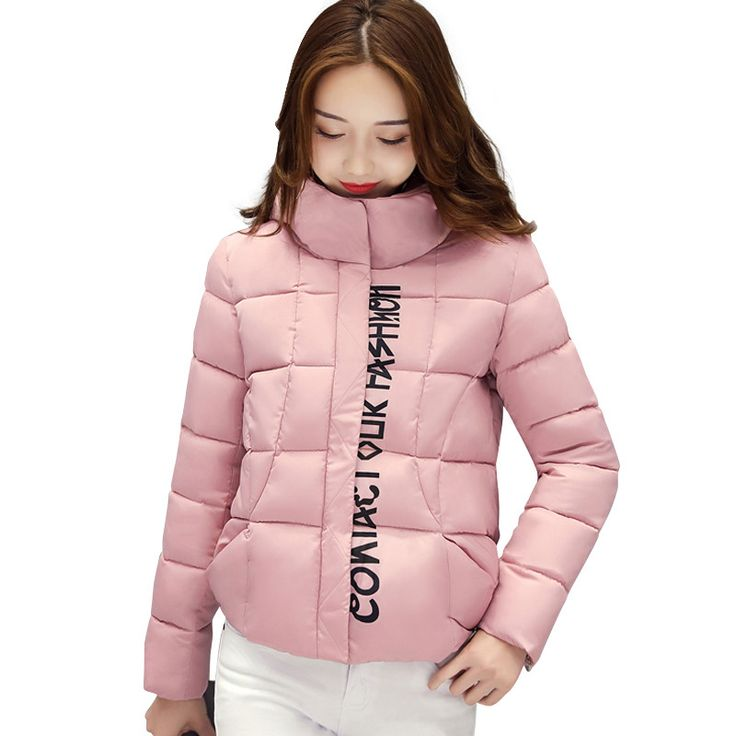 2017 Short Parkas Winter Coat Women Letter Printing Thicken Wadded Cotton Jacket Women Hooded Padded Parka Camperas Mujer C3461 *** AliExpress Affiliate's buyable pin. Click the image to view the details on www.aliexpress.com #Womensjackets