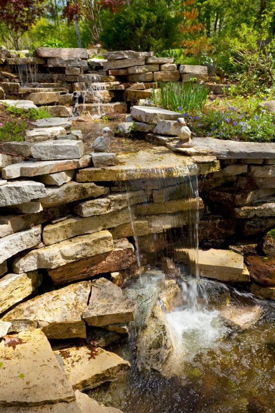 1000 images about water features on pinterest backyard for Backyard pond fountains