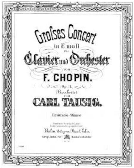 Grosses Konzert fur Klavier und Orchester e-Moll op. 11 (Piano Reduction)