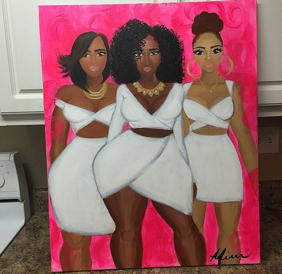 Untitled african american women in pink by MiarriDene on Etsy