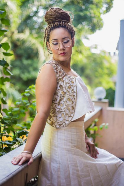 Buy PAKEEZAH_White lehenga with lace embrodered jacket • Masakali