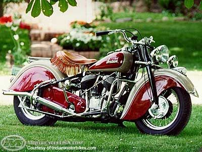 Indian Motorcycle - I'm the one standing there admiring the Indian Motorcycle in the Parking lot.