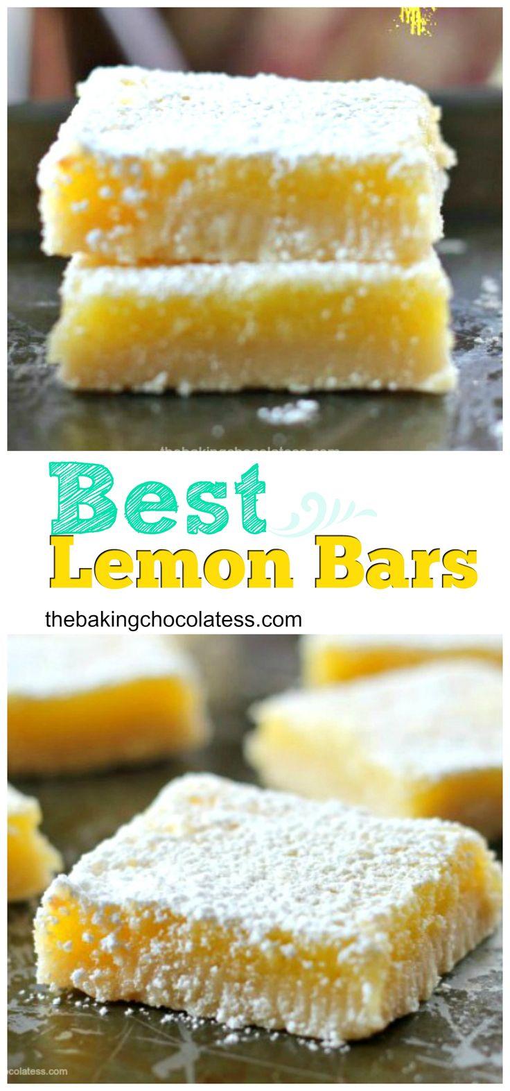 Best Lemon Bars via @https://www.pinterest.com/BaknChocolaTess/