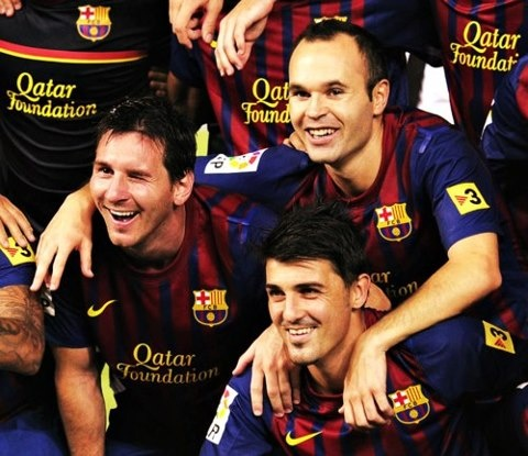 Iniesta, Villa and Messi ;D