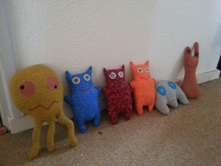 Stuffed monsters!  By kwast kwijt en quilts