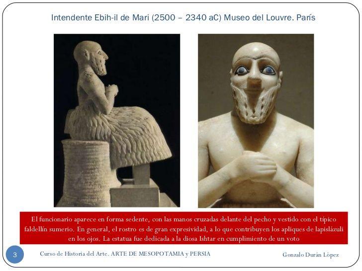 Intendente Ebih-il de Mari (2500 – 2340 aC) Museo del Louvre. París Gonzalo Durán López Curso de Historia del Arte. ARTE D...