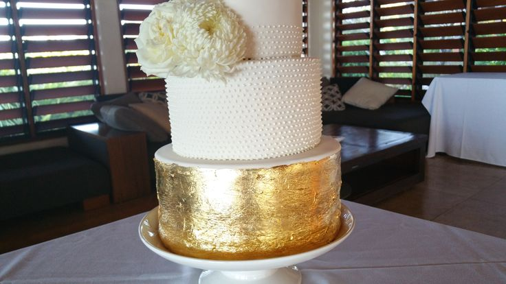Gold leaf and intricate piping