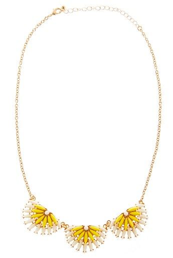 Louche Half Flower necklace, £15.