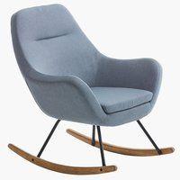 Fotel bujany NEBEL tkanina j. niebieski