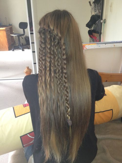 Waterfall braids with braids!