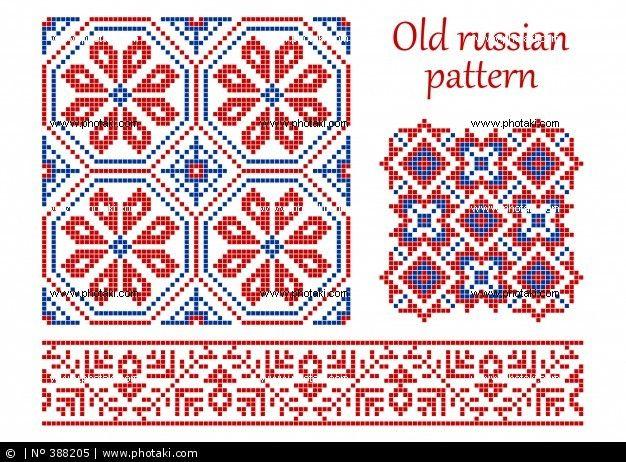 oude Russische model, oud patroon