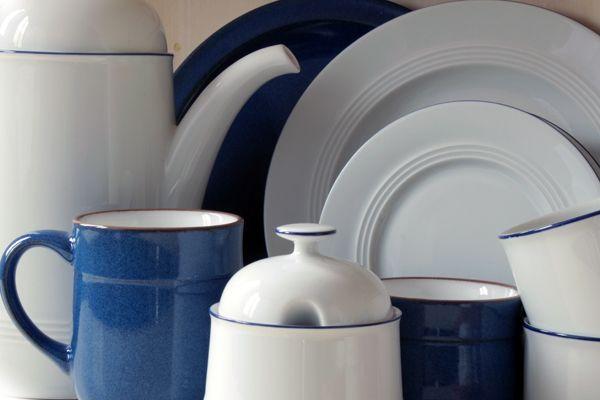 Unsere Dauerbrenner: Jeverland - Kleine Brise und Ammerland Blue, Porzellan und Steingut Geschirr in Blau und Weiß von Friesland