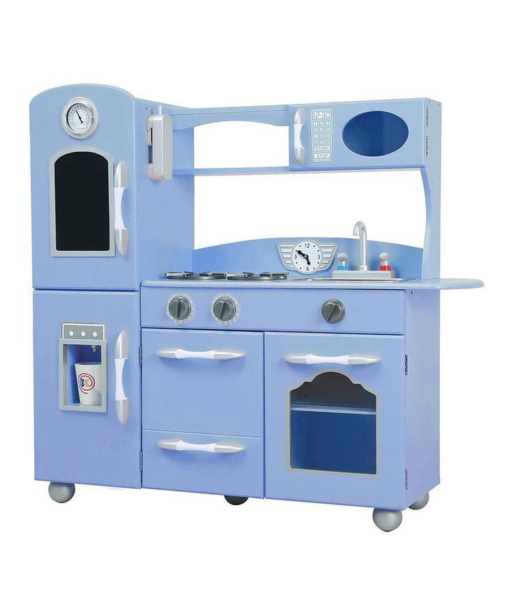Teamson Kids Serenity Blue Retro Play Kitchen Get Your Little Chefs The Perfect Gift With