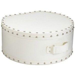 Lazy Susan Nautical Hat Box White