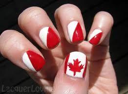 Canada nails #canadaday #July1st #CosmoProfCanadaDay