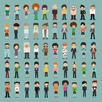 ING Group cartoon people , eps10 vector format