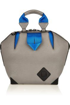 Alexander Wang Leather Stone Gray Electric Blue Tote Bag. Get one of the hottest styles of the season! The Alexander Wang Leather Stone Gray Electric Blue Tote Bag is a top 10 member favorite on Tradesy. Save on yours before they're sold out!