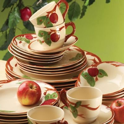 Franciscan Apple Dishes....I have these...I knew I wanted this pattern when I first saw it at Isabelle's house when I was a little kid.