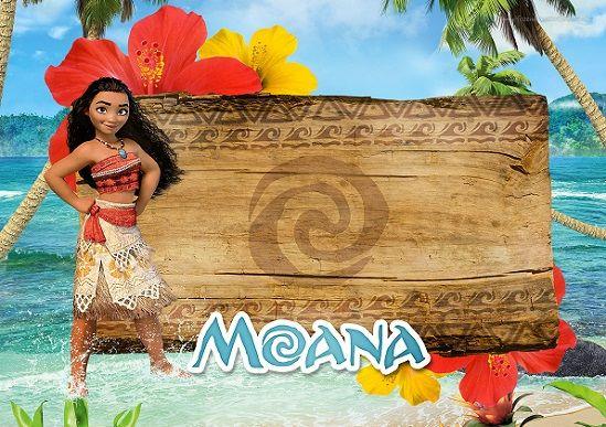 invitaciones de cumpleaños Moana Disney