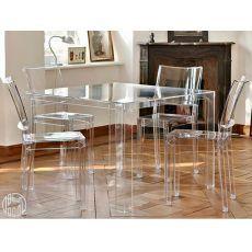Invisible Table - Tavolo Kartell di design, in polimero, 100x100 cm, altezza 72 cm, anche per giardino