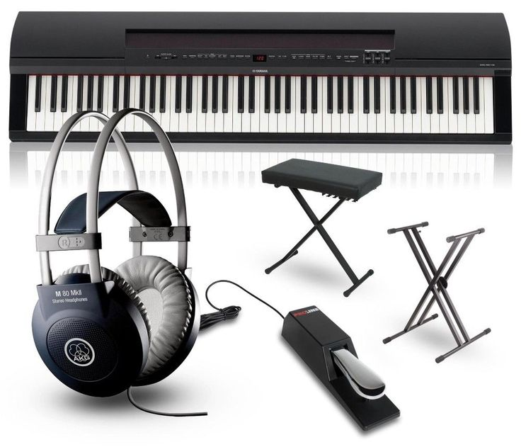 Yamaha P-255 88-Key Digital Piano Packages Black Performance Package