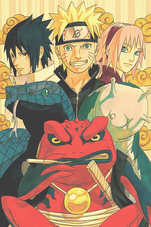 Imagem de naruto, sakura, and sasuke