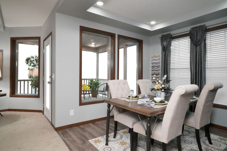 Commodore homes of indiana grandville utlra 3 gme613a grandville le modular ranch dining room - Modular dining room ...