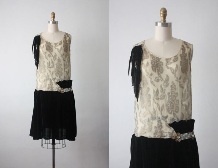 20s dress / afterfeather dress / 1920s dress by 1919vintage on Etsy https://www.etsy.com/listing/228596653/20s-dress-afterfeather-dress-1920s-dress