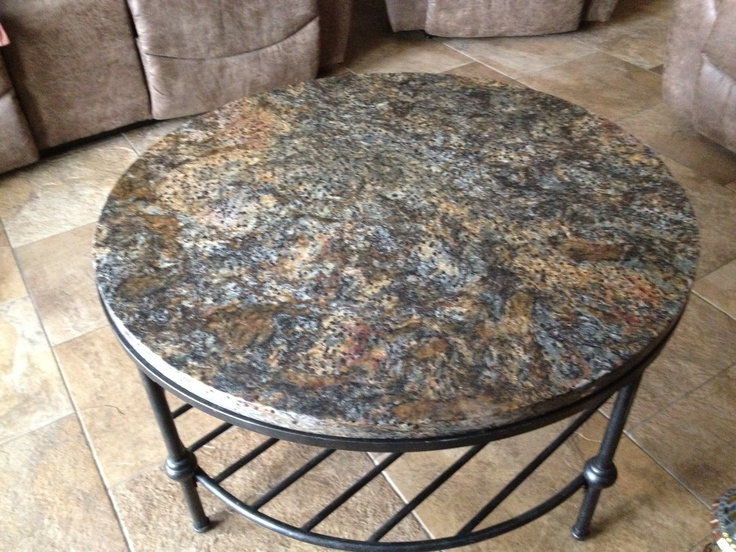 Leather granite table by Natural Stoneworks