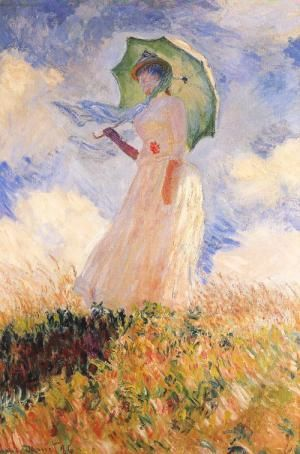 Woman with a Parasol (Facing Right)   Claude Monet ~ 1886  Musee d'Orsay, Paris