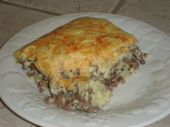 Impossible cheesburger pie in 9x13.  Use sausage for breakfast casserole.  Freezing instructions included.