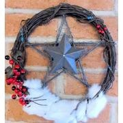Barb wire wreath