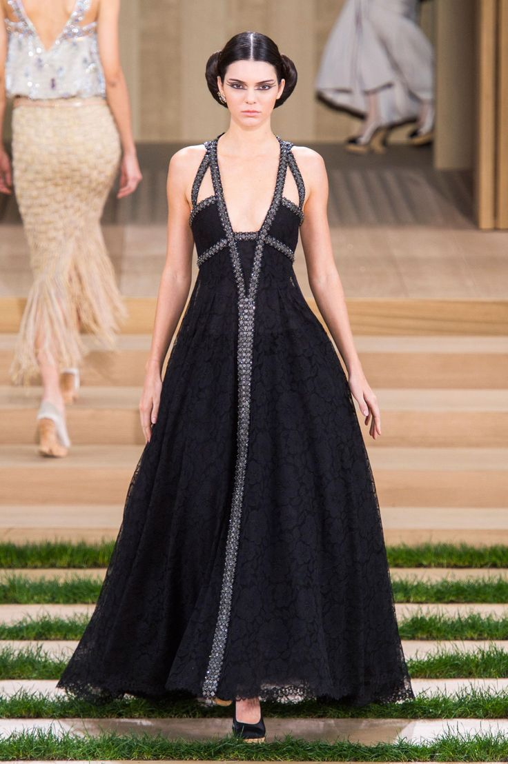 Kendall Jenner walks in Karl Lagerfeld's latest spring Chanel Couture collection at the Grand Palais. http://thecut.io/1KCXLYz