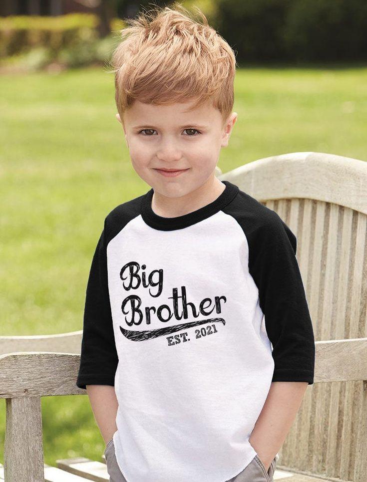 Big Brother 2021 Gift for Siblings Boys Toddler Raglan 3/4 ...