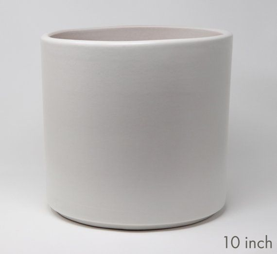 Matte White Cylinder Planter Optional Saucer Indoor Modern Etsy In 2020 Modern Pot Planters Garden Chic