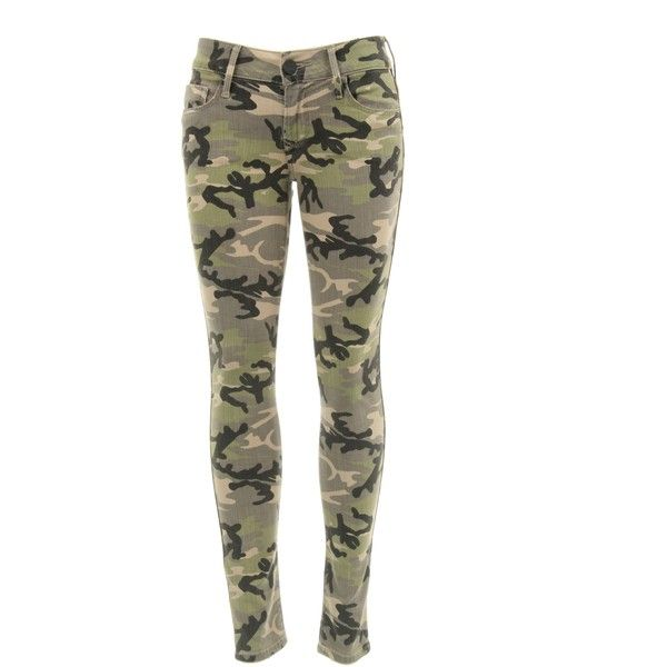 Black Orchid Camouflage Skinny Jeans BO291TNC ($158) ❤ liked on Polyvore featuring jeans, pants, bottoms, pantalones, print skinny jeans, skinny leg jeans, army skinny jeans, camo jeans and fitted jeans
