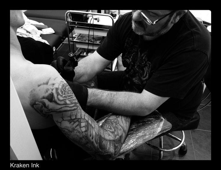 Hard at work. Creativity is key @ Kraken Ink