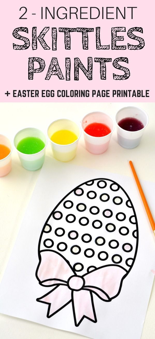 How To Make 2 Ingredient Watercolor Paint With Skittles Candies Plus A Free Easter Egg Coloring Pa Easter Egg Coloring Pages Coloring Easter Eggs Coloring Eggs