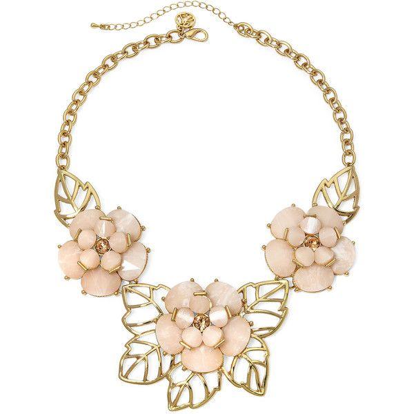 Gemma Simone™ Bloom Fresh Cut Peach Stone Necklace found on Polyvore