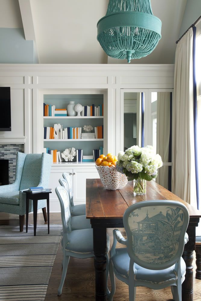 71 Best Dining Spaces Images On Pinterest  Kitchens Dining Rooms Prepossessing Blue Green Dining Room Inspiration