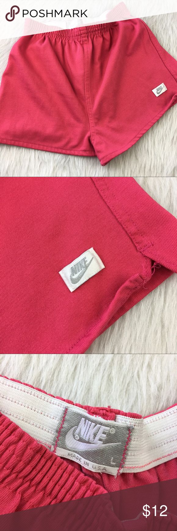 Nike retro pink elastic waist active cheer shorts Preloved. Size large but really is more like a size medium. Classics! Nike retro pink elastic waist active cheer shorts. Nike Shorts