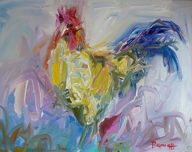 Good Morning, 45cm x 35cm, oil www.paulinegough.com