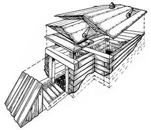 Building a root cellar took longer than the author thought, but once completed it was an effective structure for year-round food storage.